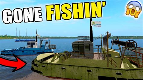 farming simulator boat videos fishing in farming simulator fishing boat jet ski