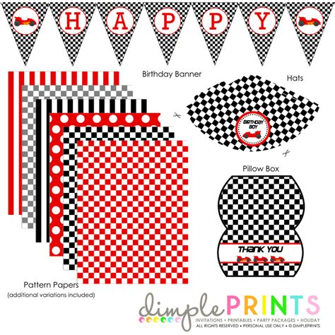 cars birthday banner template race car printable birthday package dimple prints shop
