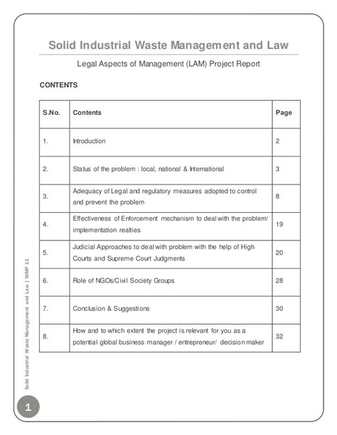 Industrial Notes For Mba by Solid Industrial Waste Management Mba Project Report