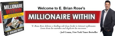 the millionaire within books millionaire within book by e brian