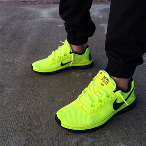 lime green athletic shoes shoes nike black lime nike running shoes nike free
