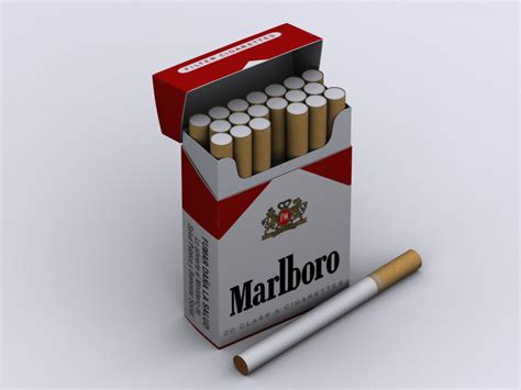 How To Make A Cigarette Box Out Of Paper - marlboro cigarette box 3d model max cgtrader
