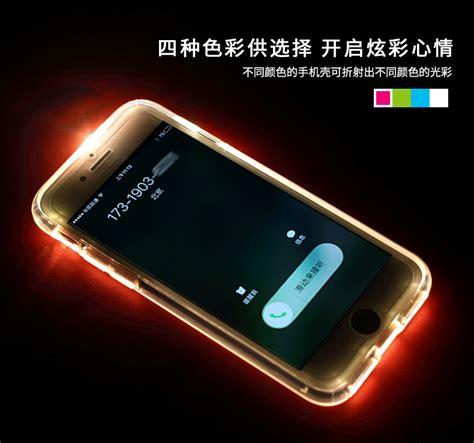 rock apple iphone   led light tube case  flash alert soft silicon case luxurious