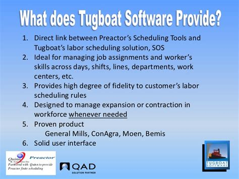 tugboat software preactor - Tugboat Software