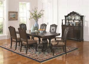 dining rooms outlet coaster valentina 7 piece dining room set in brownish red