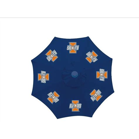 University Of Illinois Bookstore Gift Card - 9 ft university of illinois blue patio umbrella ctu117 the home depot