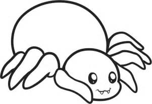 outline in color spider with bold outline coloring page animal