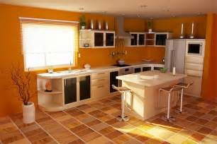 Kitchen Design Colour by Uzumaki Interior Design Kitchen With Orange Design Schemes