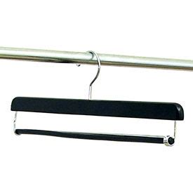 Hanger Setelan 16 Inchi 16 inch locking black trouser hangers set of 10 in wood hangers