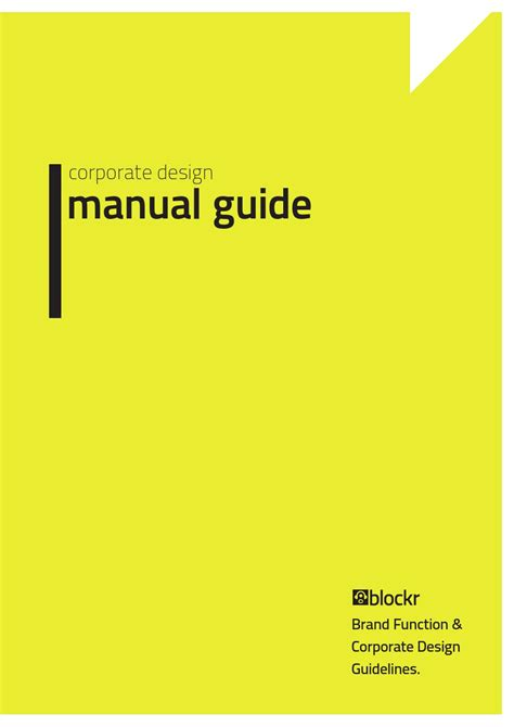 corporate design manual guide corporate design manual