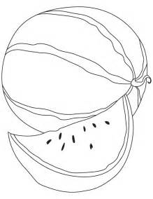 watermelon coloring page watermelon coloring pages 5