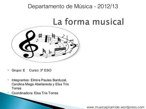 la forma de las 6073139683 las formas musicales