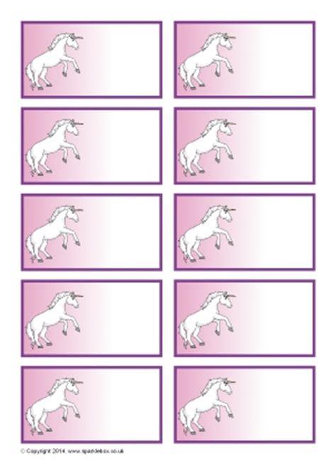 Editable Classroom Peg Labels Sparklebox Unicorn Label Template