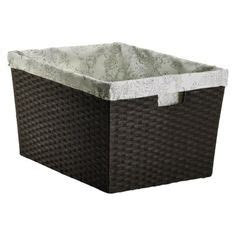 19 69 Threshold Global Large Milk Crate Dark Brown From Threshold Laundry