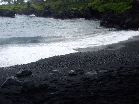 sand beaches black sand beaches
