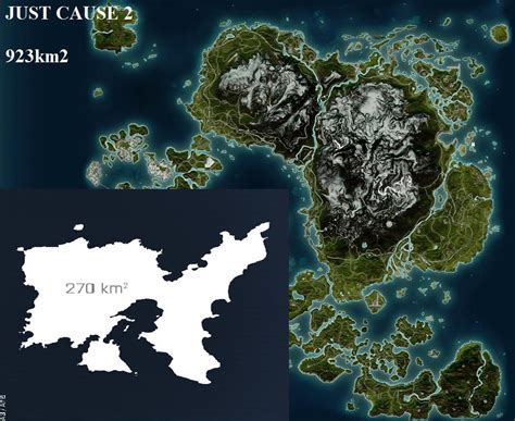 just cause 3 map size map size comparison fixed arma 3 gt dayz sa but both are