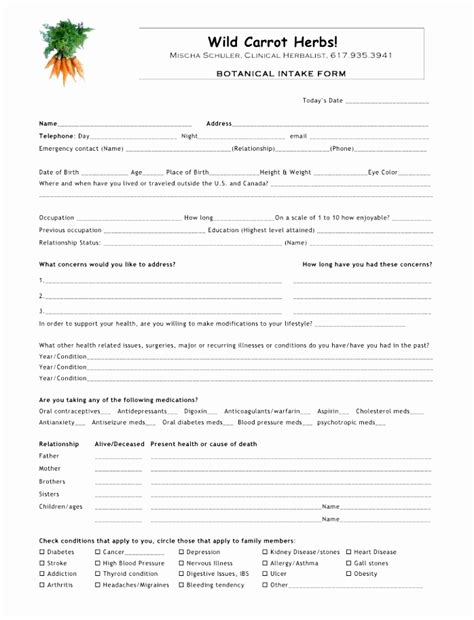10 Physical Therapy Intake Form Template Jruai Templatesz234 Physical Therapy Intake Form Template