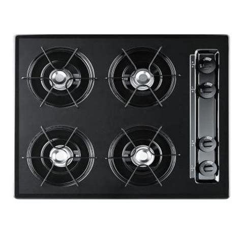 24 In Gas Cooktop - 24 in gas cooktop in black with 4 burners ttl033 the