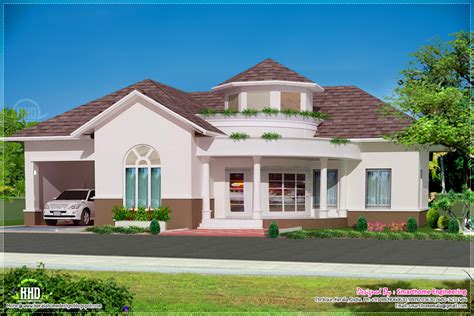 one floor homes beautiful single floor 3 bed room villa kerala home design and floor plans