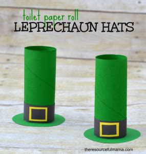 toilet paper roll leprechaun hat craft the resourceful