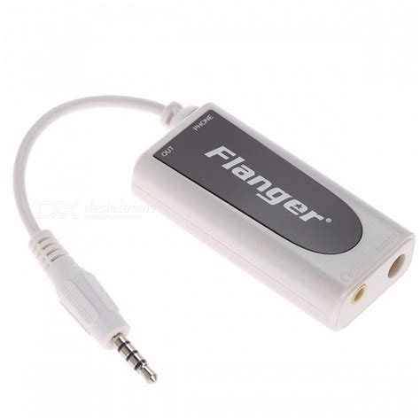 Flanger Guitar Interface Adapter For Iphone Ipod Touch Fc 20 Blac flanger fc 20 3 5mm output guitar effect interface link adapter audio connector adaptor for