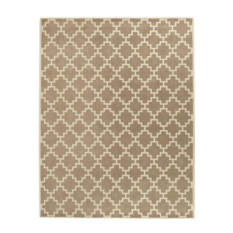 Area Rugs Halifax Home Decorators Collection Halifax Taupe Ivory 9 Ft X 12 Ft Indoor Area Rug 94555 The Home Depot