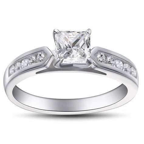 925 Sterling Silver Gemstone Ring princess cut gemstone 925 sterling silver engagement ring