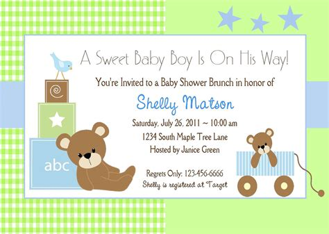 Templates For Baby Shower Invites free baby shower invitations templates best template