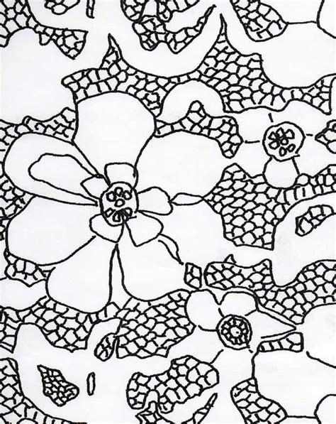 lace pattern sketch stitching by moonlight drawing lace