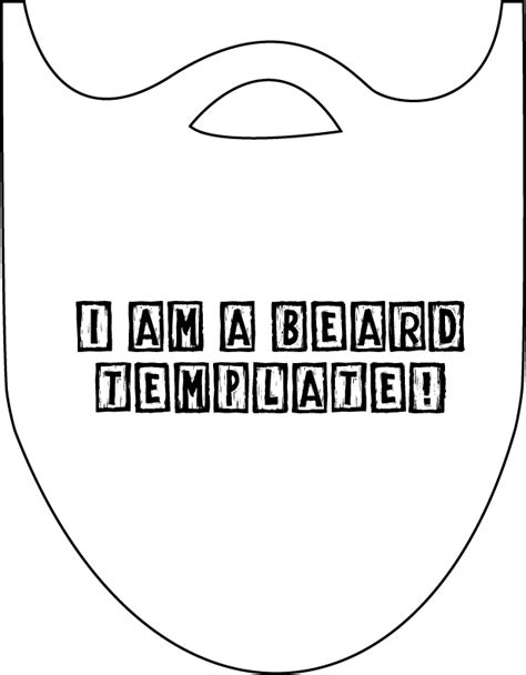 beard template printable beard template www imgkid the image kid has it