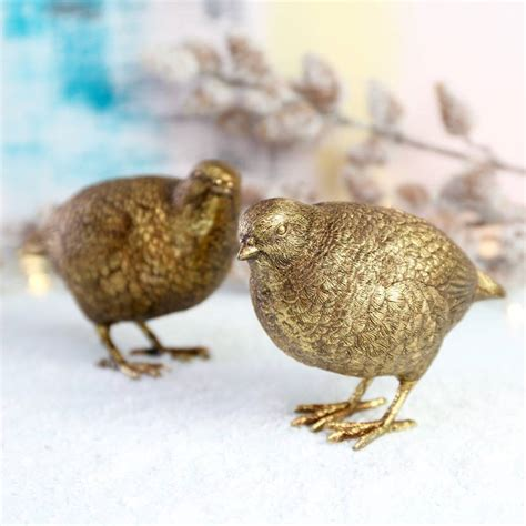 decorative ornaments for the home uk gold partridge ornaments tutti decor ltd
