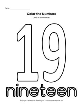 coloring page number 19 16 best images of number 24 worksheets free printable