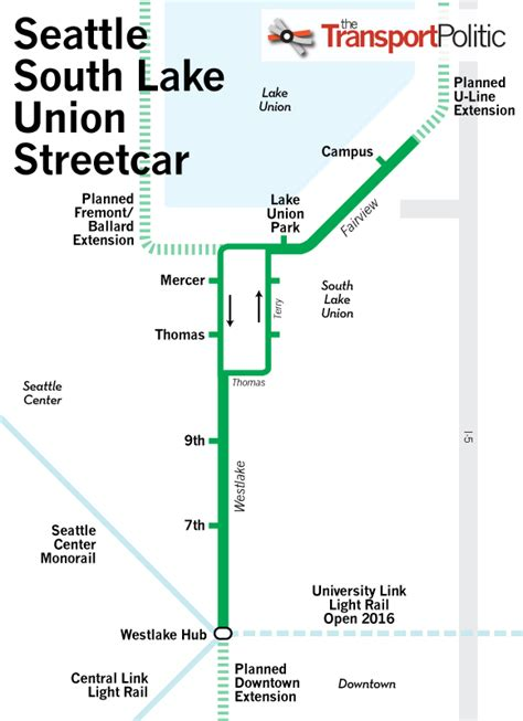 seattle map lake union existing streetcar systems 171 the transport politic