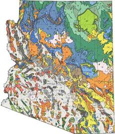 u of arizona cus map arizona geologic map mapsof net