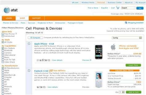 apple iphone now available on the at t wireless website