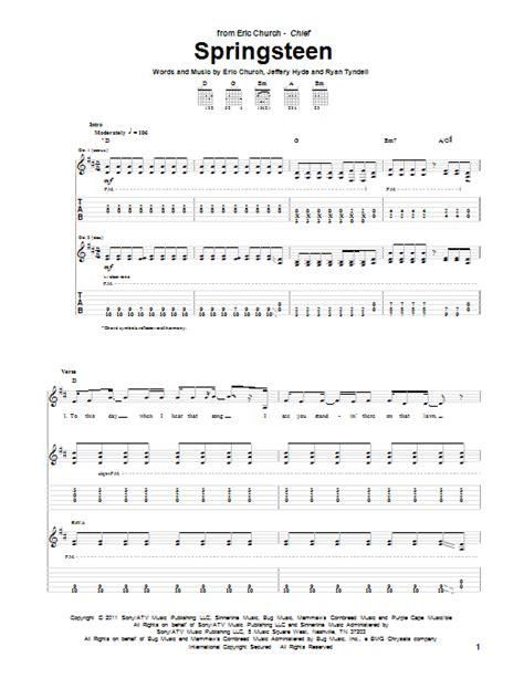 Eric Church Guitar Tabs | springsteen by eric church guitar tab guitar instructor