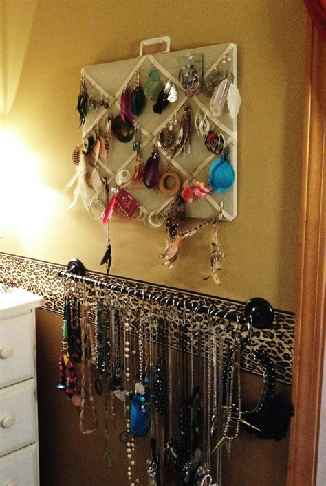 cheap shower curtain hooks diy jewelry organizer i bought the towel rod at walmart