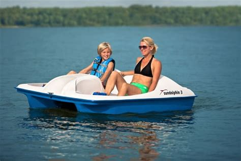 sun dolphin 3 person pedal paddle boat - Water Bee Paddle Boat For Sale