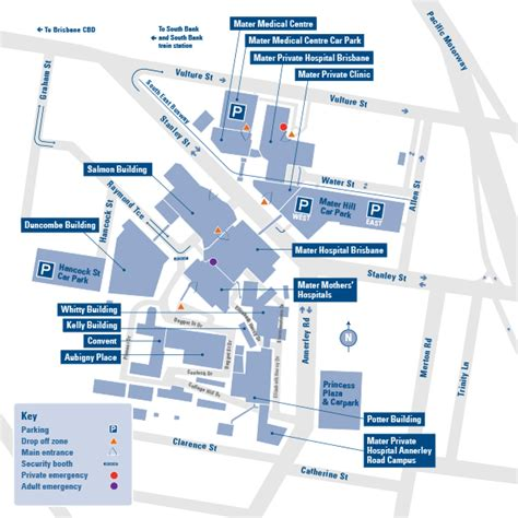Southbank Floor Plan campus map south brisbane mater org au