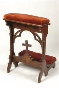 praying bench walnut prayer bench with arches lot 182