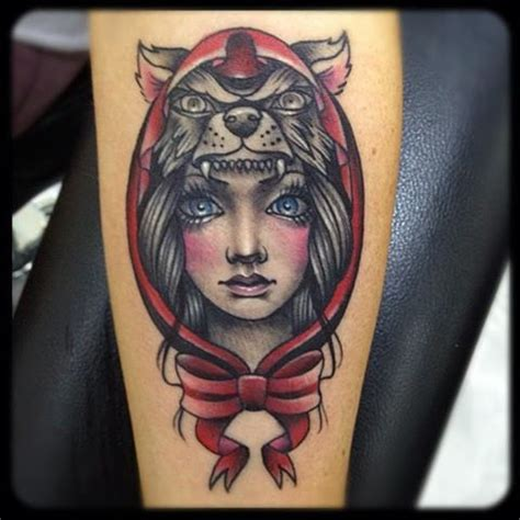 red hood tattoo 3d wolf pictures design idea