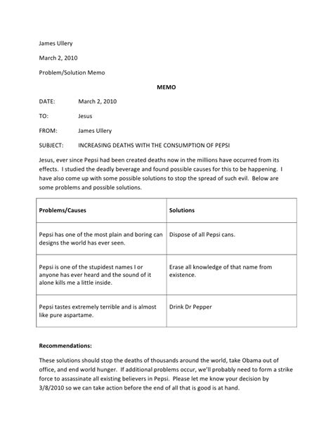 Problem Solution Memo Issue Resolved Email Template