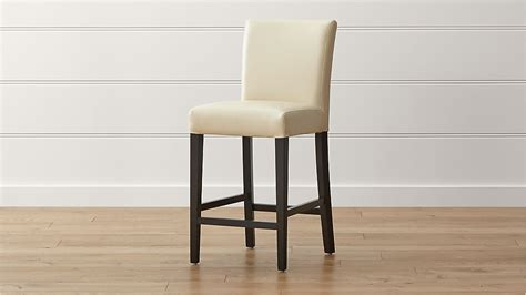 Ivory Leather Counter Stools by Lowe Ivory Leather Counter Stool Crate And Barrel