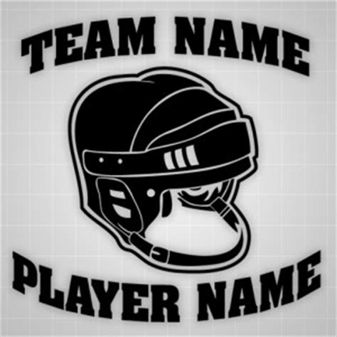 Helm Aufkleber Name by Hockey Helmet Wall Decal Personalized Sticker Team Name