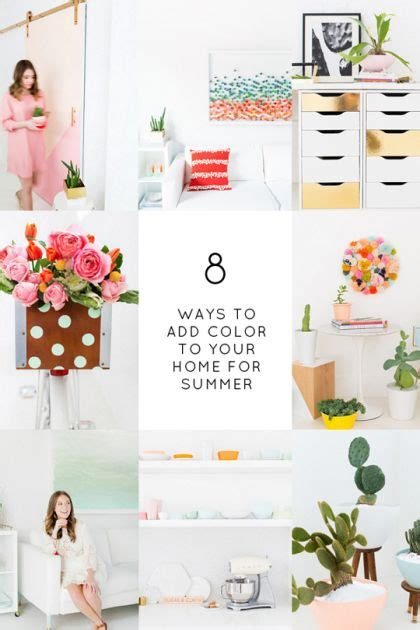 add summer to your home home decor diy s 8 ways to add color to your home this