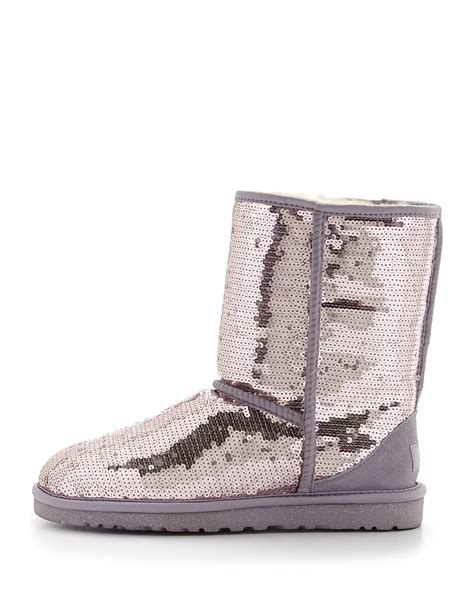 ugg sparkles sequin boot in purple lyst