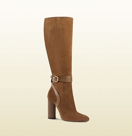 gucci suede knee boot shopstyle