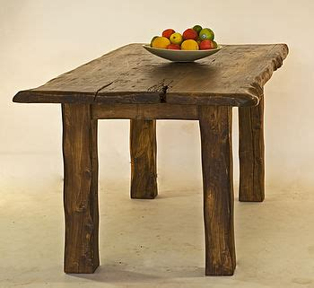 Handmade Wooden Dining Tables Large Rustic Handmade Wooden Dining Table By Kwetu Notonthehighstreet