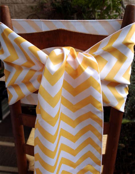 chevron table runner yellow