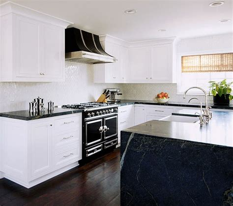 Pictures Of Kitchens With White Cabinets And Black Countertops Black And White Kitchens Ideas Photos Inspirations
